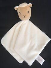 Gymboree White Tan Lamb Plush Security Blanket 2009