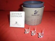 Vintage Retired Swarovski Crystal 3 Field mice 7631 015 000 Boxed