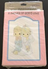 8 VTG Hallmark Precious Moments A Shower of God's Love Bridal Shower Invitations
