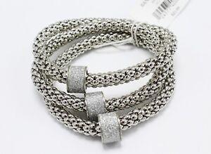 New 3 Piece Silver Tone Stretch Bracelet Set by Banana Republic #B1286