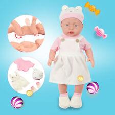 "Handmade Reborn Baby Dolls 17"" Lifelike Newborn Babies Vinyl Silicone Girl Doll"