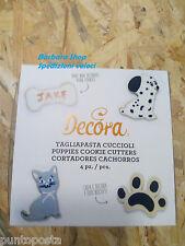 4 tagliapasta taglia biscotto Decora cane osso impronta gatto SPEDIZIONI VELOCI