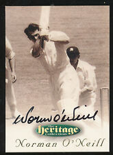1996 Futera Norman O'Neill Signature Heritage Collection Cricket Card no. 46