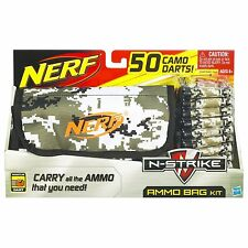 Brand New NERF N-Strike AMMO BAG KIT  ~ 50 Camo WHISTLER DARTS Rare