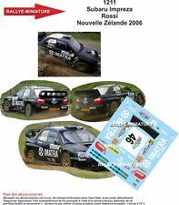 DECALS 1/18 REF 1211 SUBARU IMPREZA WRC VALENTINO ROSSI NEW ZELAND RALLY 2006