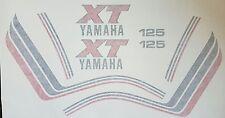 YAMAHA XT125 XT 125 1982 MODEL FULL PAINTWORK DECAL KIT
