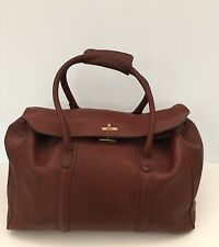 M LONDON ALL LEATHER LARGE Duffle/Luggage CARRY ON VERSATILE BAG