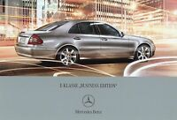 0542MB Mercedes E-Klasse Business Edition Prospekt 2007 31.8.07 brochure Auto