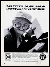 1967 7-Eleven 7-11 store man mailing money order photo vintage print ad