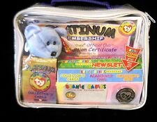 BEANIE BABIES OFFICIAL CLUB with MEMBERSHIP CARD-COLLECTOR'S CARDS &  COIN -NIB