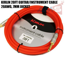 Kirlin 20ft Guitar Instrument Cable Electric Patch Cord 7mm Bass +Cable Tie RDF