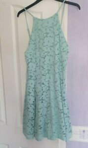 Stunning Mint Green Lacy Dress From New Look Size 12
