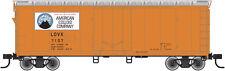 AMERICAN COLOID (VOLCANO LOGO) 40'  PLUG DOOR BOXCAR BY ATLAS TRAINMAN-EXCELLENT