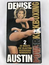 Denise Austin Power Kickboxing VHS Tape Fat Blasting Workout Exercise Routine