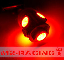 2x BA9S Super Red LED 5 SMD Bulbs Map Dome Parking Cargo License Plate Lights