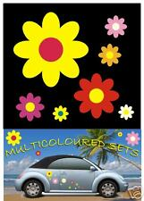 40 MULTICOLOURED CAR FLOWER STICKERS DECALS GRAPHICS WALL WINDOW BODY PANEL
