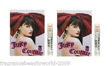 2X JUICY COUTURE WOMEN 0.05 OZ / 1.5 ML EAU DE PARFUM SPRAY SAMPLE VIAL