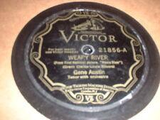 78RPM 2 Victor by Gene Austin, Girl of Dreams/Ramona, Weary River/Song I Love V-