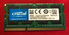 CRUCIAL DDR3L-1333 SODIMM 4GB RAM MEMORY CT4G3S1339M