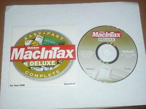 Quicken MacInTax 1998 Tax Year For Mac OS 7.6 to 9.x
