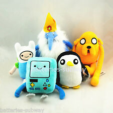Set 5 pcs Adventure Time with Finn and Jake Beemo Gunter stuffed plush toy doll