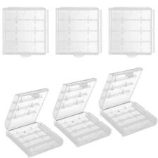 6 Pcs AA AAA Cell Battery Storage Case Holder Organizer Box Clear Hard Plastic
