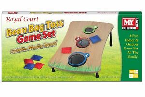 ROYAL COURT MY OUTDOOR GAMES FOLDABLE WOODEN BOARD BEAN BAG TOSS GAME SET
