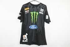 DC Shoes Mens Large Monster Energy Ken Block 43 Racing T Shirt Black Cotton