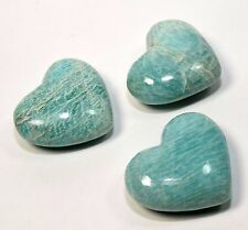 """2.25"""" Natural Green Amazonite Heart Polished Gemstone Crystal Mineral India 1PC"""