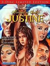 MARQUIS DE SADE'S JUSTINE BLU-RAY 3 DISC EROTICISM KINSKI PALANCE REG 0 NEW WS