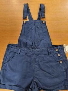Oversized Dungaree Shorts Ladies Overalls Bib-shorts UK 18 (Annanavy)