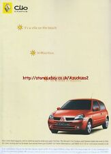 "Renault Clio Campus ""1. Its A Villa On The Beach"" 2006 Magazine Advert #2704"