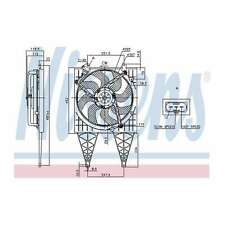 Fits VW Polo 9N 1.2 Genuine OE Quality Nissens Engine Cooling Radiator Fan