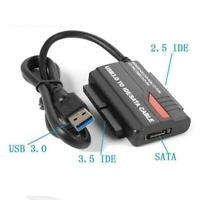 USB 3.0 to 3.5 2.5 IDE SATA Hard Drive Adapter HDD Reader Converter Docking New