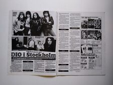 Ronnie James Dio Vivian Campbell Bain Magnus Uggla clippings Sweden