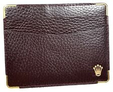 Holder Brown Leather Daytona 1980s Rolex Wallet Translation Certificate Document