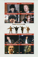 Chad 2019 CTO The Beatles John Lennon Paul McCartney 8v M/S Music Stamps