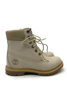 Timberland 6 In WP Boot (Womens Size 8.5)  Construction Boot Ivory White NEW