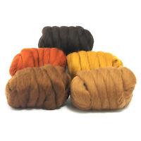 Barky Browns - Dyed Merino Wool Top - Felting - Roving - Spinning - 250g