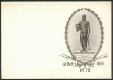 Braunschweig-Ostfriesland, Blancokarte des Inf. Regt. Ostfr. Nr.78 selten