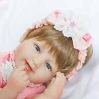 Handmade 17'' Realistic Reborn Baby Doll Girl Soft Vinyl Silicone Lifelike Newly