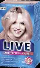 4 X Schwarzkopf Live Permanent Lightener + Pastel Twist 101 Cool ROSE