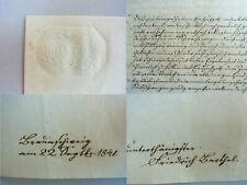 Brief BRAUNSCHWEIG 1841: Dank des Vaters Hilfe für MALER Gustav Adolf BARTHEL