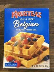 Krusteaz Light & Crispy Belgian Waffle Mix Add Egg & Oil 28 oz