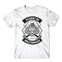 Badminton T-Shirt 100% Cotton Premium Tee New