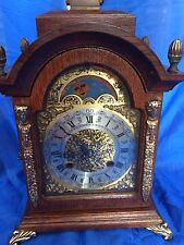 ANTIQUE BRACKET CLOCK  EARLY 1900 8 DAY MOVEMENT CLOCK WITH GOING MOON PHASE