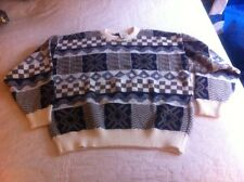 Men's Geometric Towncraft sweater Large MSRP $40.00  Neutral Colors (B8-2)