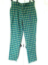 CHIC LANDS' END GEOMETRIC PRINT STRETCH TWILL SLIM LEG PANTS SIZE 16 NWT!