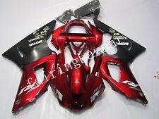 Black Red ABS Injection Bodywork Fairing Plastic Kit for YAMAHA YZF R1 2000 2001