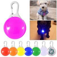 Dog Cat Pet Led Night Light Collar Buckle Pendant Leash Flashing Clip Luminous~